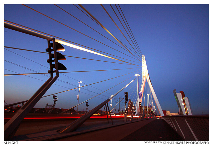 Erasmusbrug at night